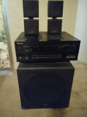 KLH Amplified Subwoofer system, Pioneer audio video multi-channel receiver & 2 acoustic speakers for Sale in Phoenix, AZ