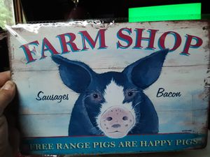Farm Shop tin sign for Sale in Dighton, MA