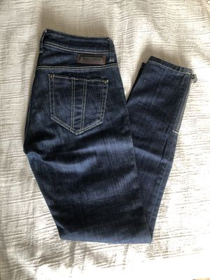BURBERRY BRIT Dark Denim Jeans with Zipper Ankles Sz 27 for Sale in Bronx, NY