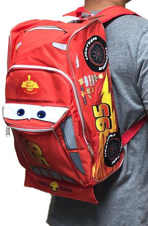 """Brand NEW!CARS """"Lightning Mcqueen"""" Car Shaped Backpack For Everyday Use/School/Traveling/Outdoors/Parties/Birthday Gifts $23 for Sale in Carson, CA"""