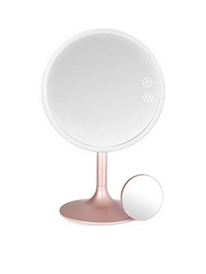 Makeup Mirror with Lights, Rechargeable Cordless Lighted Makeup Mirror LED Vanity Mirror with 1X/5X Magnification, 3 Color Lighting Modes Detachable for Sale in Fairfax Station, VA