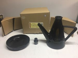 Longaberger woven traditions ebony oil bottle, cap and plate NEW IN BOX for Sale in Scotch Plains, NJ