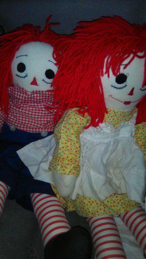 Raggedy Ann and raggedy andy for Sale in City of Industry, CA
