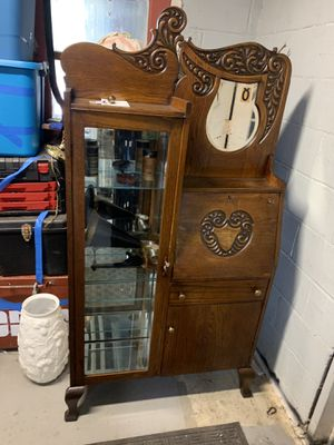 Antique Oak secretary display cabinet for Sale in Freedom, PA