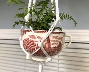 Mini tea cup macrame plant hanger for Sale in West Linn, OR