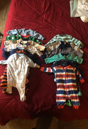 0-3 month baby boy sleepers for Sale in Damascus, MD