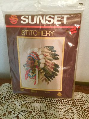 Large Native American Wall Stitchery Kit for Sale in Vienna, MO