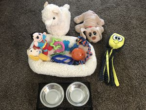 Puppy Toy,Bed, Food & Water bowl, Leash... for Sale in Kent, WA