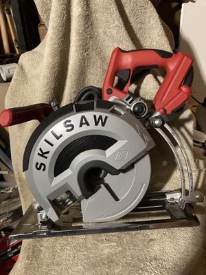 """Skillsaw 15 Amp Corded 8"""" Outlaw Worm Drive Saw for Metal with 42 Tooth Diablo Cermet-Tipped Blade for Sale in Highland, CA"""