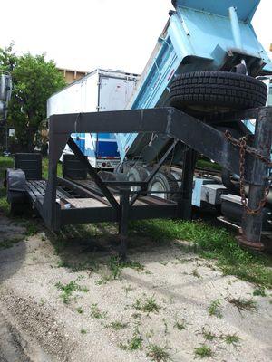 Heavy duty tandem axle gooseneck trailer for Sale in Oakland Park, FL