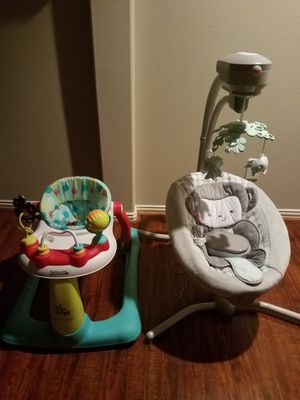 Infant musical two-way swing set and walker! for Sale in Spring, TX