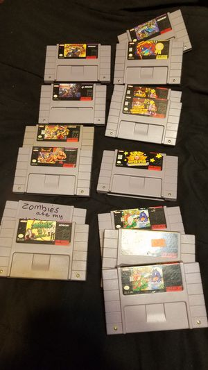 Super Nintendo games ALL GAMES ARE DIFFERENT PRICES for Sale in Fresno, CA