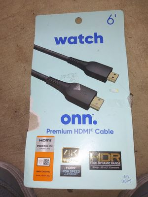 6 ft premium HDMI cable for Sale in Peoria, AZ