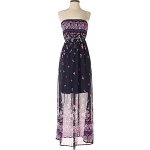 Pink Blush Strapless Purple Floral Dress (S) for Sale in Temple City, CA