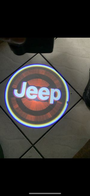 Jeep car door projector lights shadow lights auto on/off aaa batteries for Sale in Long Beach, CA