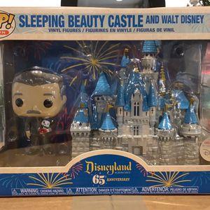 Sleeping Beauty Castle With Walt Disney Funko Pop for Sale in Burtonsville, MD
