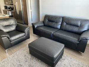 Leather Sofa, chair and ottoman for Sale in Arvada, CO