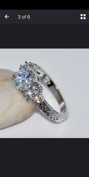 White gold plated size 7 for Sale in Joliet, IL
