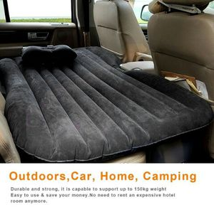 Inflatable mattress air cushion car backseat bed with air pump and two pillows for Sale in Richmond, CA