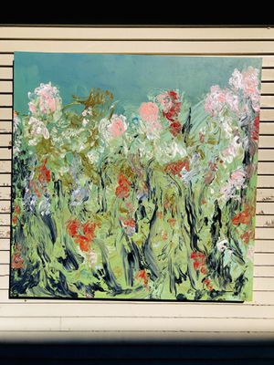 Large original abstract floral painting for Sale in Sioux Falls, SD