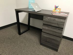 Computer Desk, Distressed Grey and Black for Sale in Garden Grove, CA