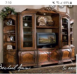 AICO Entertainment center Without center TV stand. Furniture for Sale in Corinth, TX