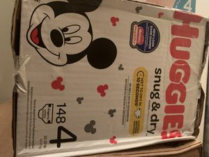 Huggies diapers size 4-148 count for Sale in Los Angeles, CA