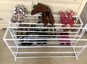 Pair of 2 white shoe rack for Sale in Duluth, GA