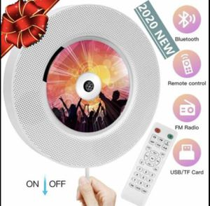 New / 2020 Upgraded Portable CD Player with Bluetooth, Wall Mountable CD Music Player with Remote Control, FM Radio, MP3 Player, Built-in Hi-fi Speak for Sale in Clovis, CA