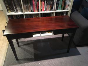 Small dark wood desk and chair for Sale in Oakland, CA