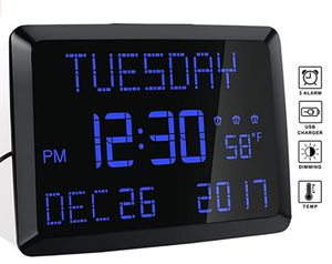 led extra large digital calendar clock with thermometer for Sale in Las Vegas, NV