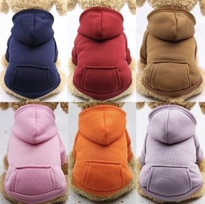 Autumn Winter Fashion Sport Jacket Fleece Hoodie Warm Dog Clothes With Pocket Pure Color for Sale in Queens, NY