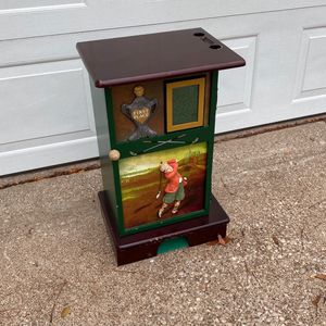 Powell Golf Motif Accent Cabinet With Built In Putting Hole for Sale in Toledo, OH