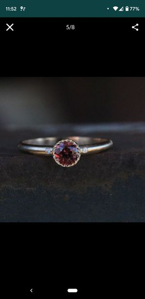 Burgandy Red Zircon Engagement Ring for Sale in Cashmere, WA
