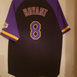 Nike Los Angeles LA Lakers Kobe Bryant #8 Away Black Baseball Jersey for Sale in Flower Mound, TX