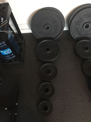 210lbs of Weider Olympic Weights for Sale in Port St. Lucie, FL