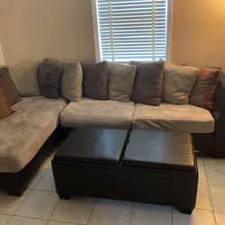 Sectional Couch W/ Ottoman; Pillows; Love Seat. Willing to separately for Sale in Miami,  FL