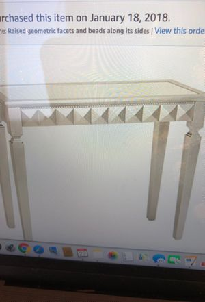 Silver Wood mirrored console Table - gorgeous! for Sale in San Francisco, CA