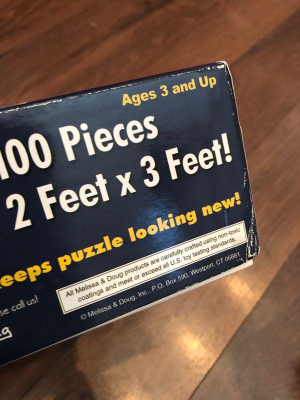 Melissa and Doug medieval floor Puzzle - 100 pieces - preschool