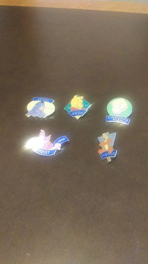 Disney Pins - set of 5 for Sale in Hampshire, IL