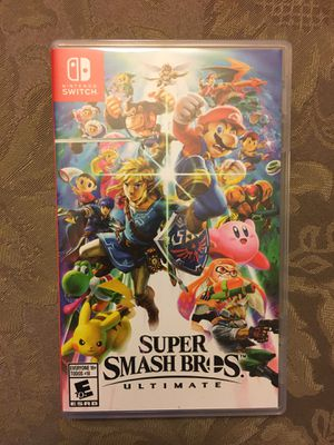 Nintendo switch super smash bros. Ultimate game with case for Sale in Wichita, KS