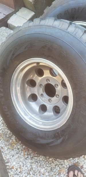 16inch aluminum rims With 33inch Mickey Thompson tires for Sale in Pensacola, FL