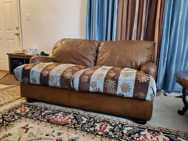 100% leather sofa & love seat