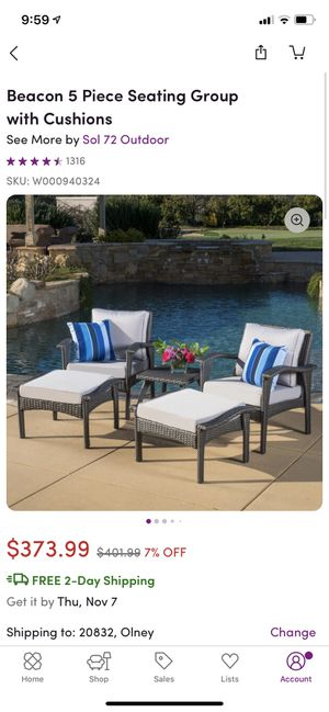 Outdoor 5 piece furniture set for Sale in Olney, MD