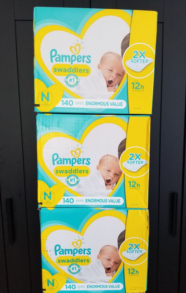 2 boxes..Pampers swaddlers size newborn enormous value pack