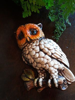 1970s owl wall plaque for Sale in Seattle, WA