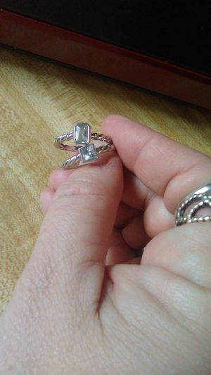 2 beautiful sterling silver stacker rings for Sale in Greensburg, PA