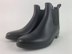 J. Crew Chelsea Black Matte Rain Boots Women's 8 Ankle Pull On Waterproof Boots for Sale in Alpharetta, GA