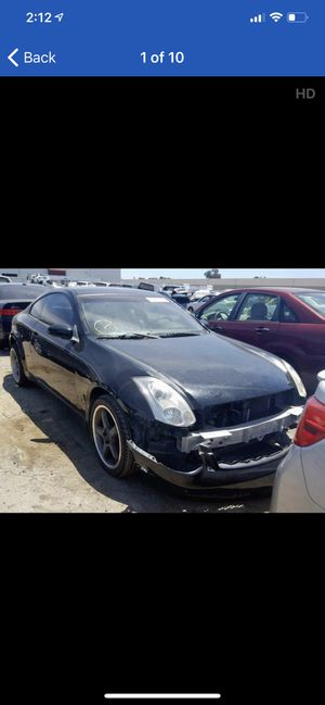 2005 Infiniti g35 coupe parting out for parts for Sale in Rancho Cordova, CA