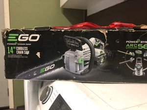 Ego battery chainsaw for Sale in San Jose, CA